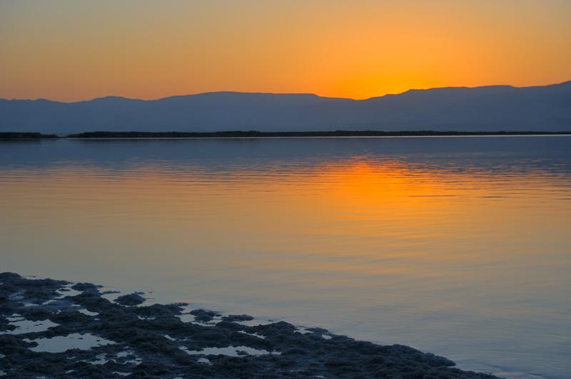 The Dead Sea before dawn